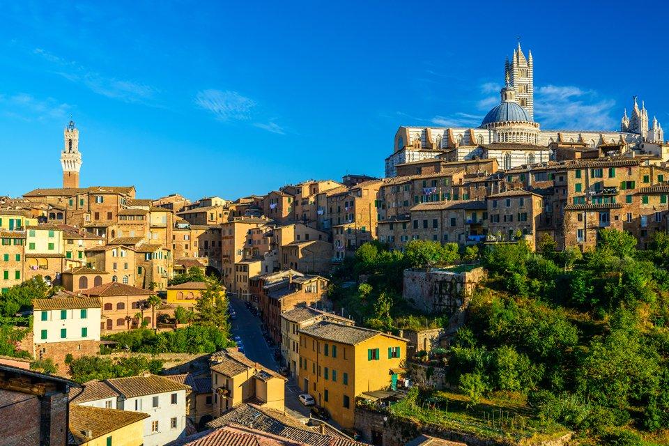 Zicht op Siena