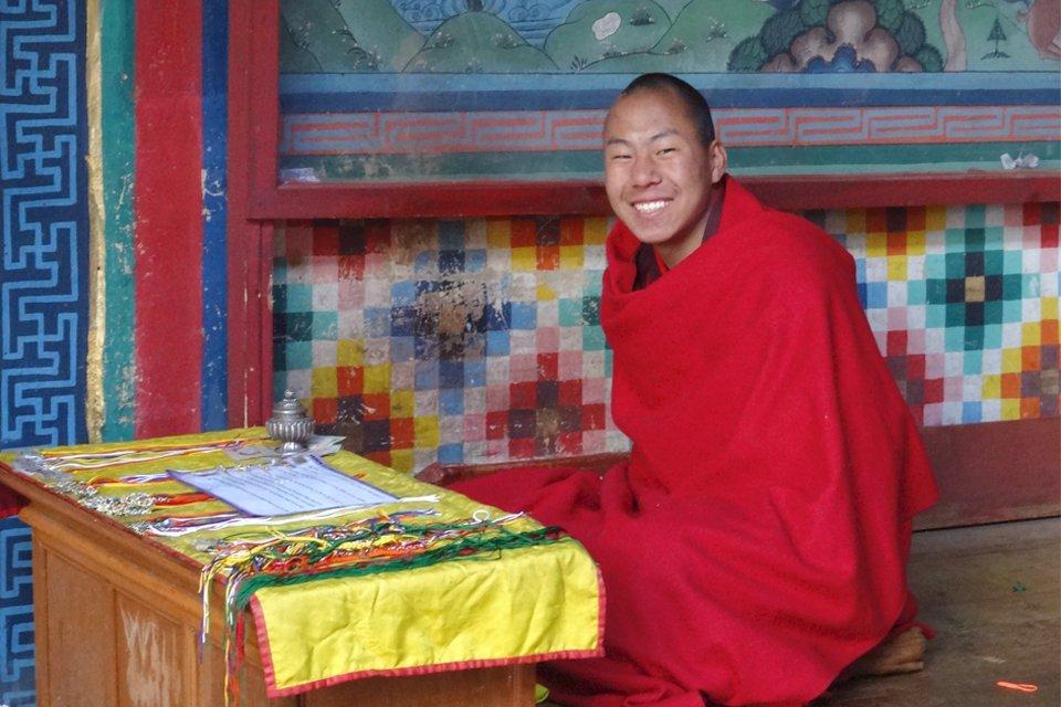 Monnik in Mongar