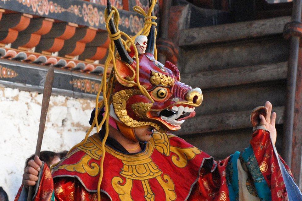 Danser tijdens religieus festival