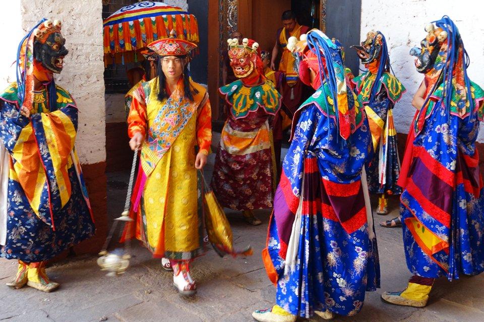 Religieus festival in Bhutan