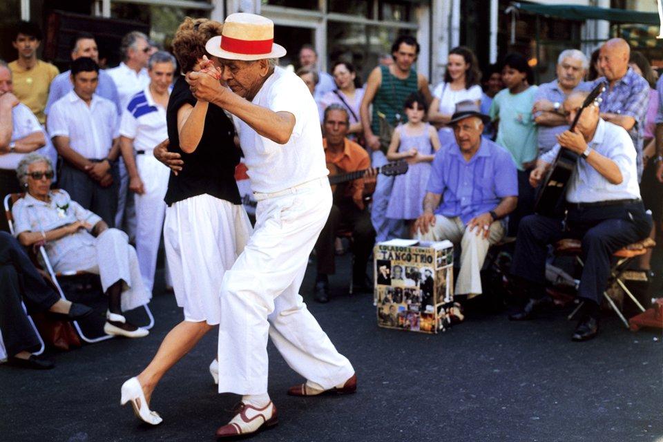 Tango in het straatbeeld van Buenos Aires