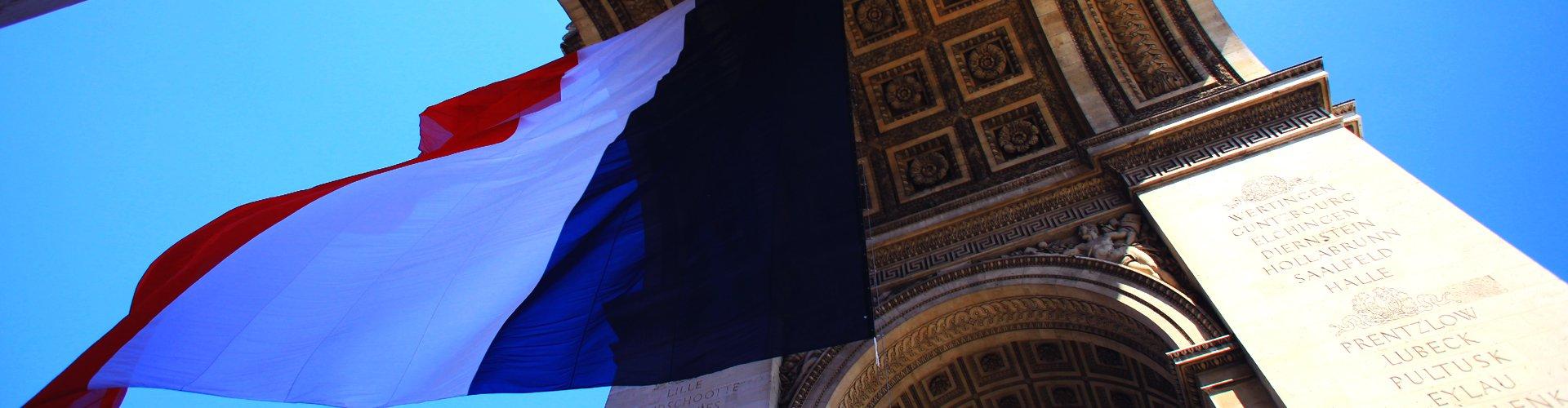 Arc de Triomphe in Parijs, Frankrijk