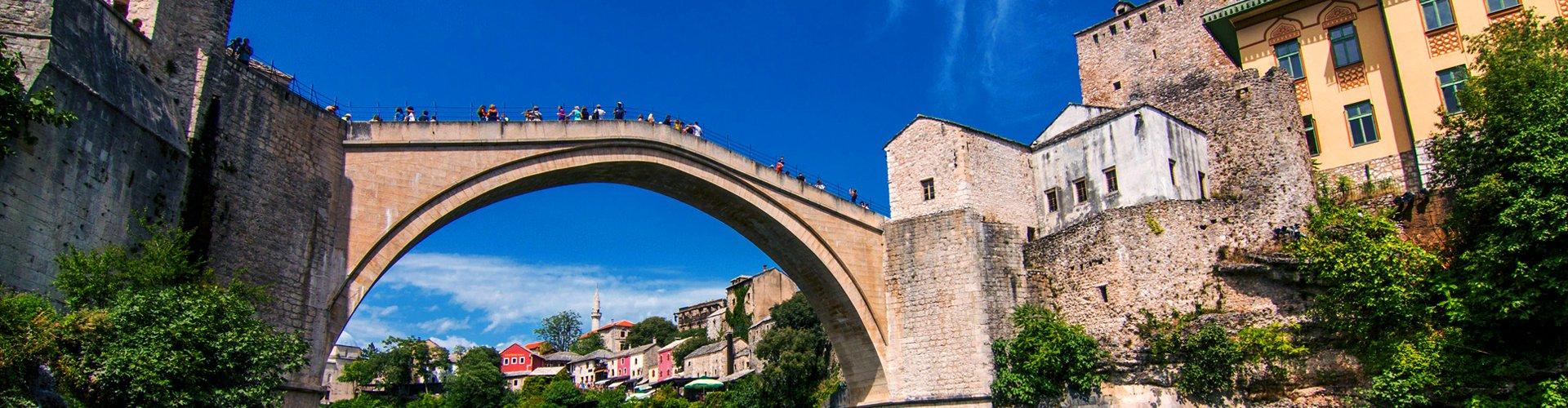 Brug van Mostar in Bosnië