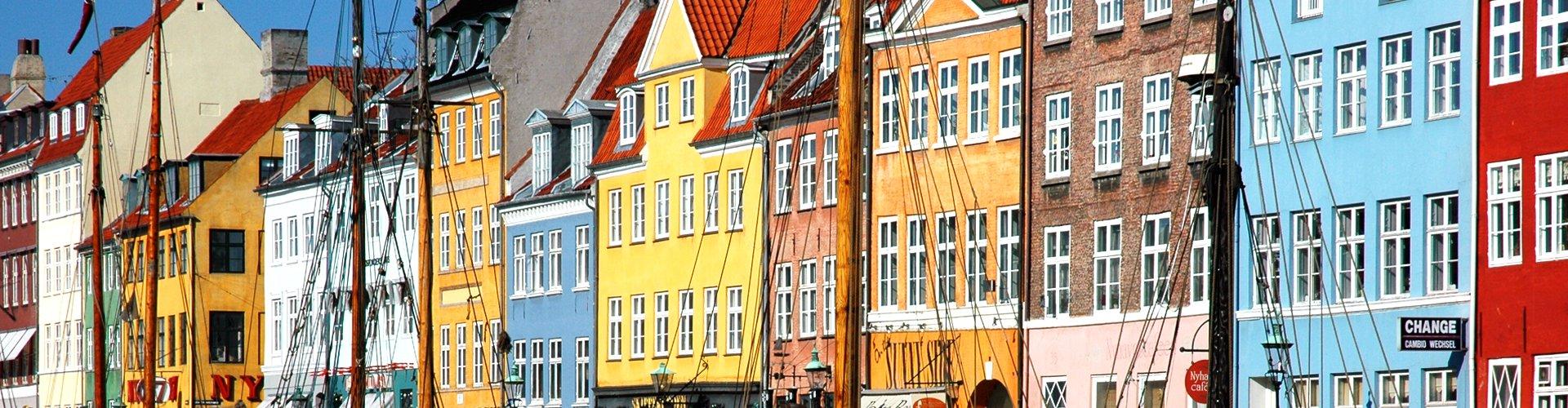Nyhavn in Kopenhagen, Denemarken