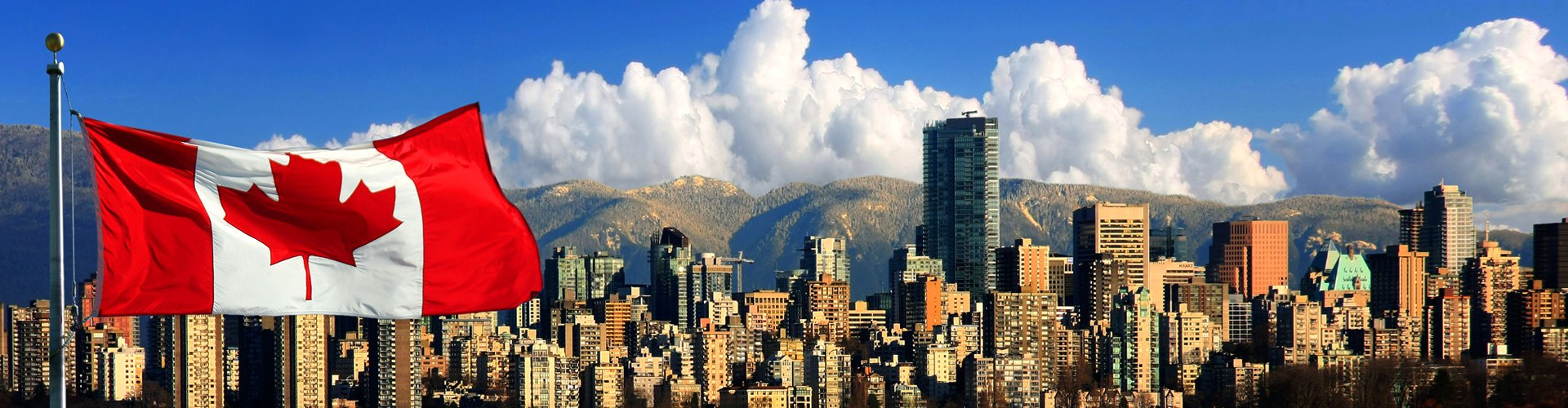 Skyline van Vancouver, Canada