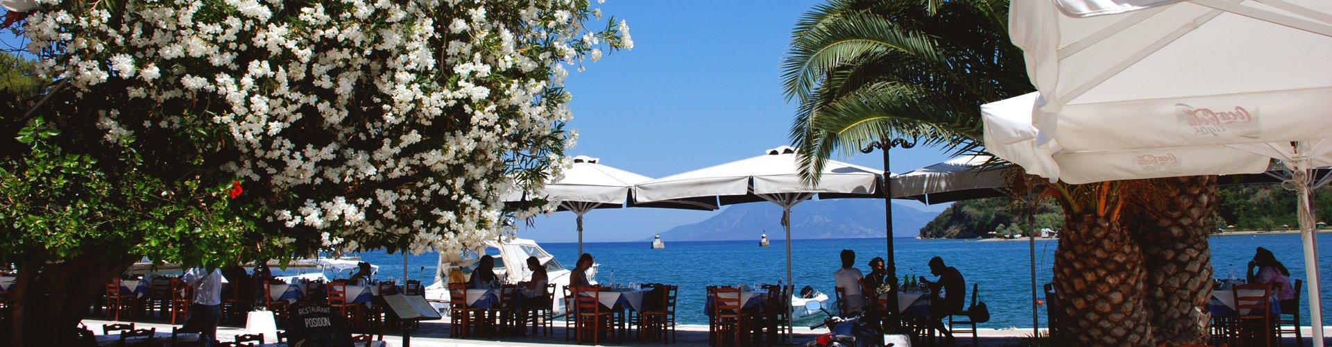 Grieks terras op de Peloponnesos, Griekenland