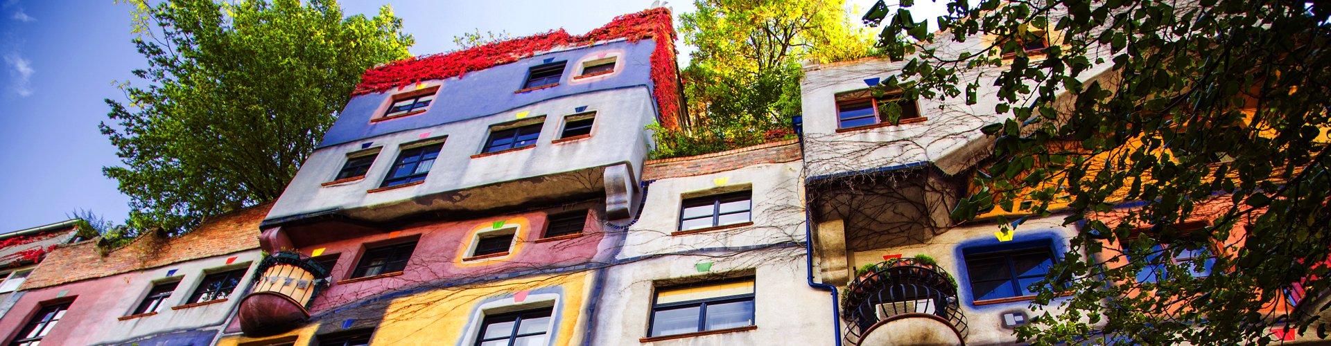 Hundertwasserhaus in Wenen, Oostenrijk