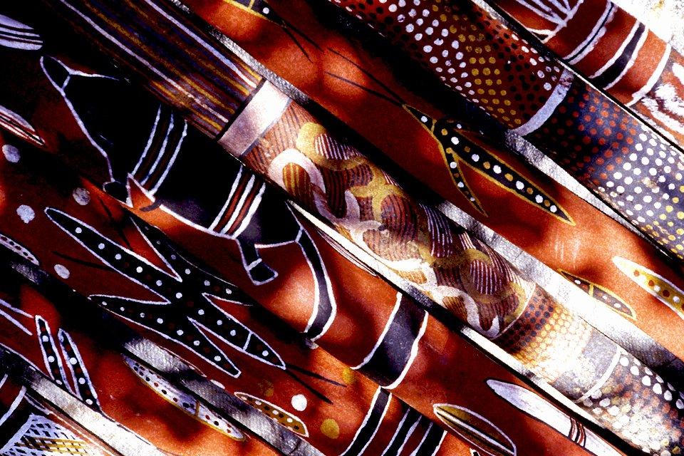 Details van didgeridoos, Australië