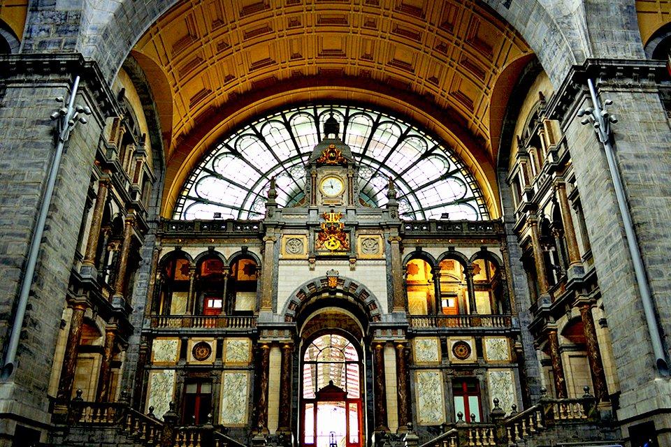 Centraal Sation in Antwerpen, België