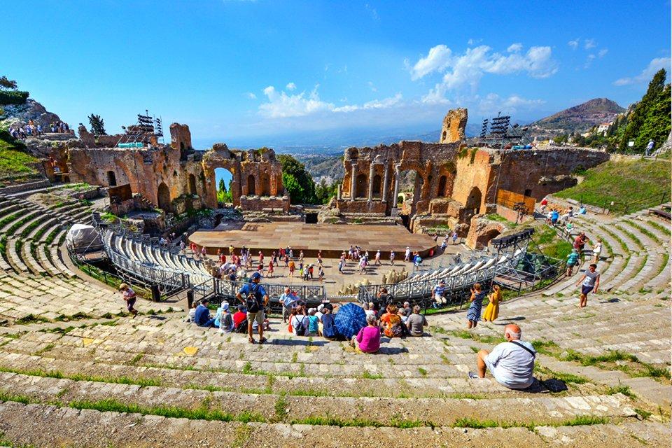 Taormina op Sicilië, Italië
