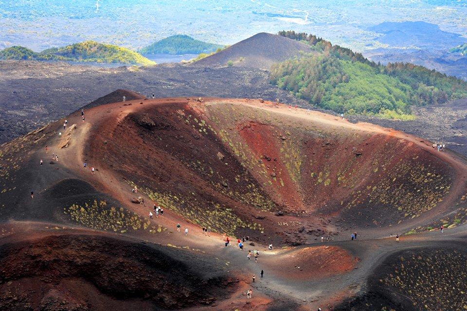 De Etna op Sicilië, Italië
