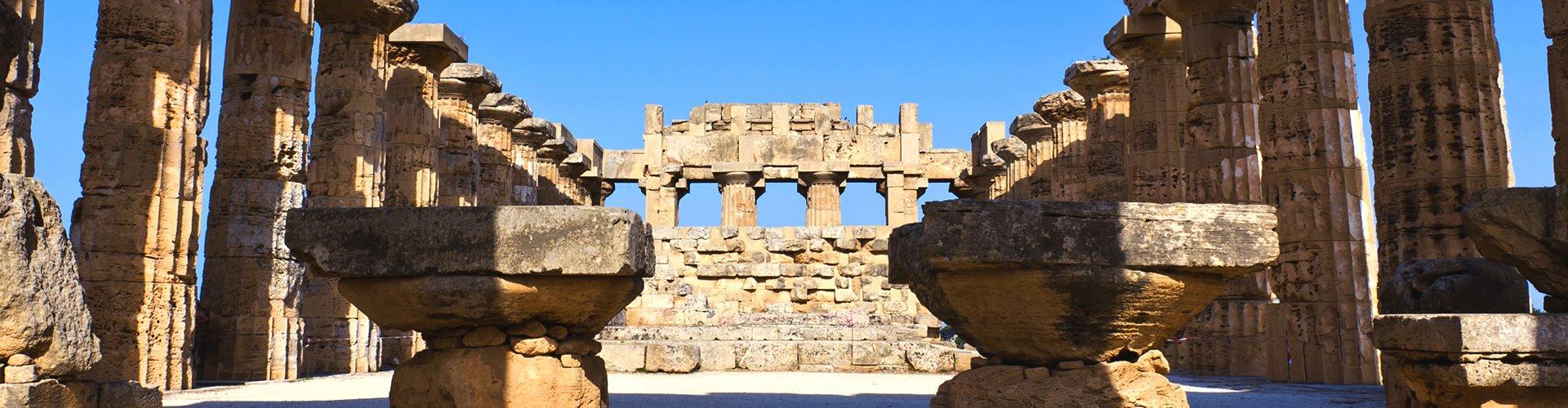 Griekse tempel op Sicilië, Italië