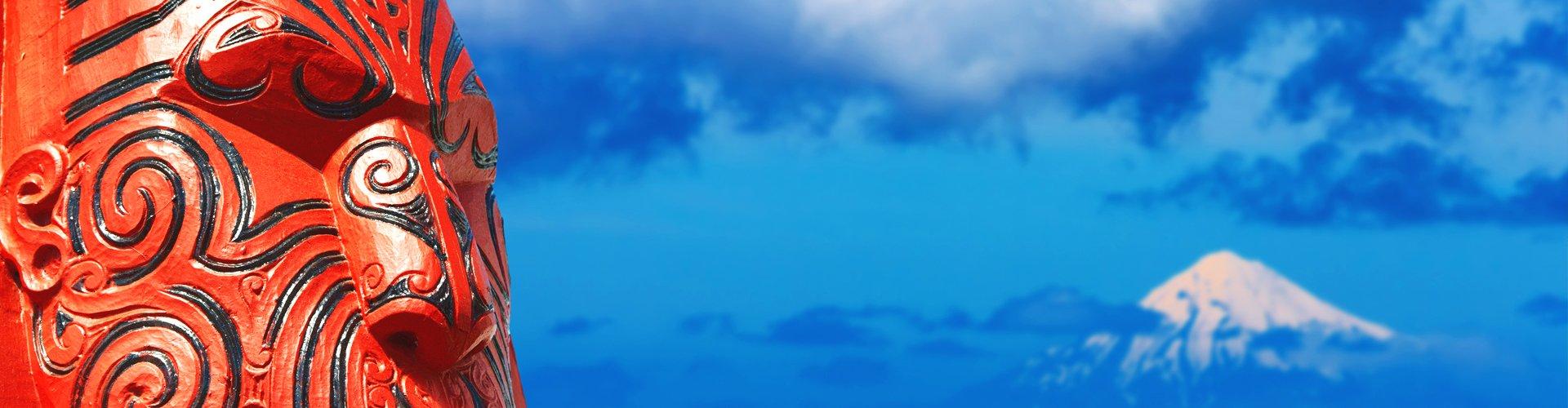 Maaori-beeld in Nieuw-Zeeland