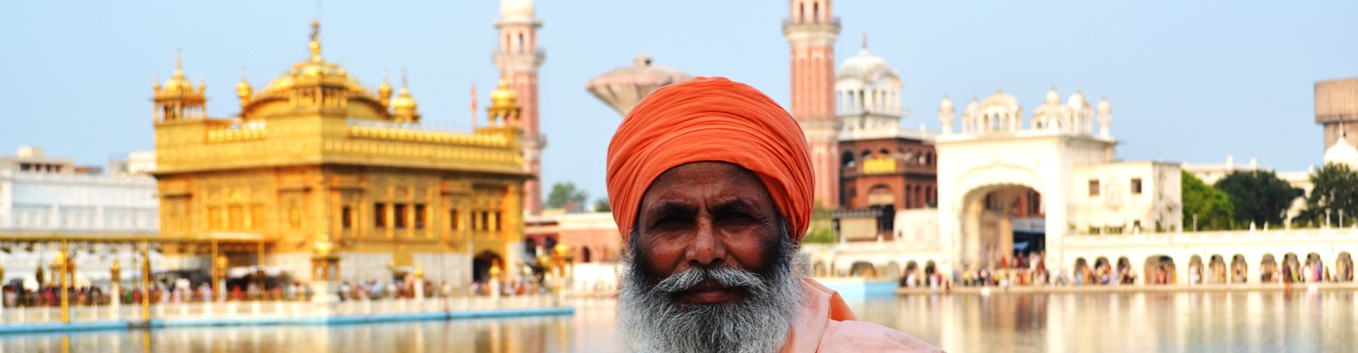 Gouden Tempel van Amritsarl in Punjab, India