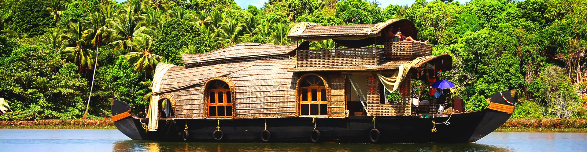 Backwaters in Kerala, Zuid-India