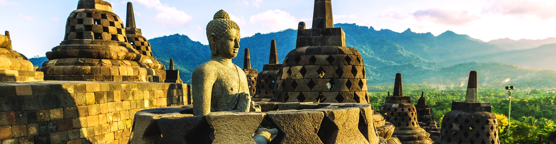 Borobodur op Java, Indonesië