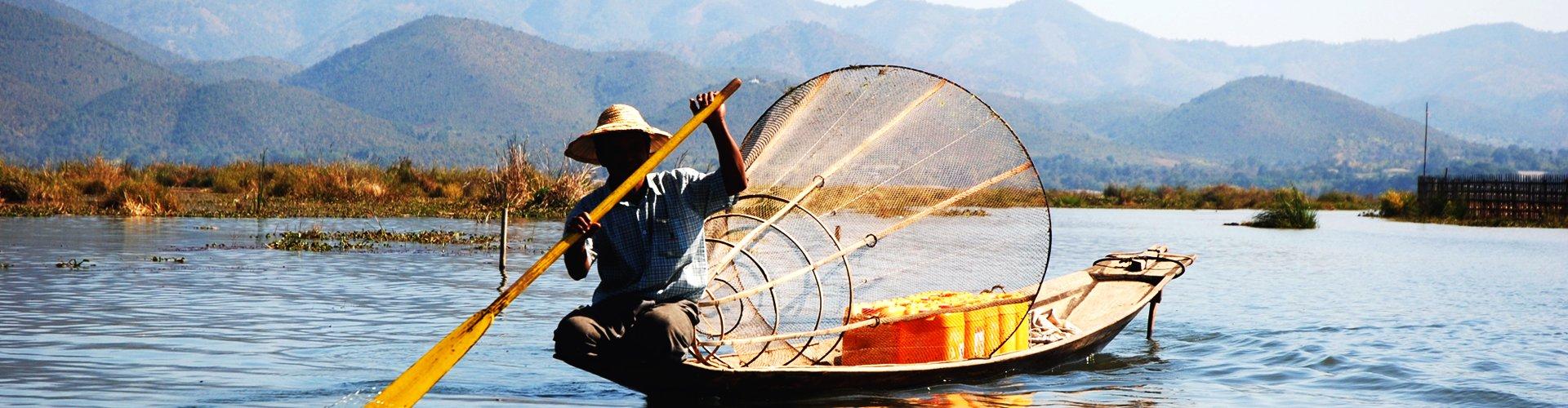 Meer van Inle, Myanmar