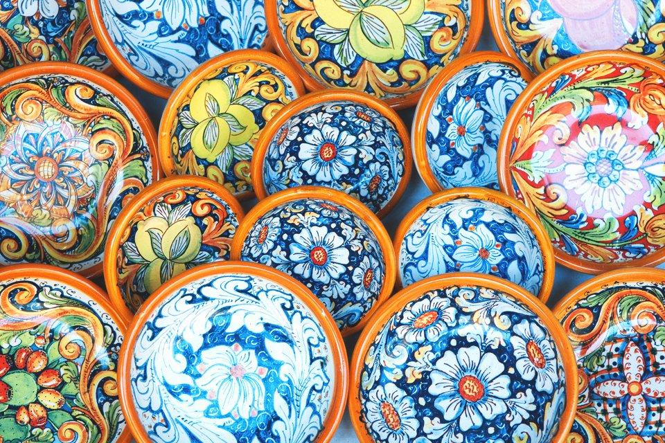 Majolica-aardewerk, Italië