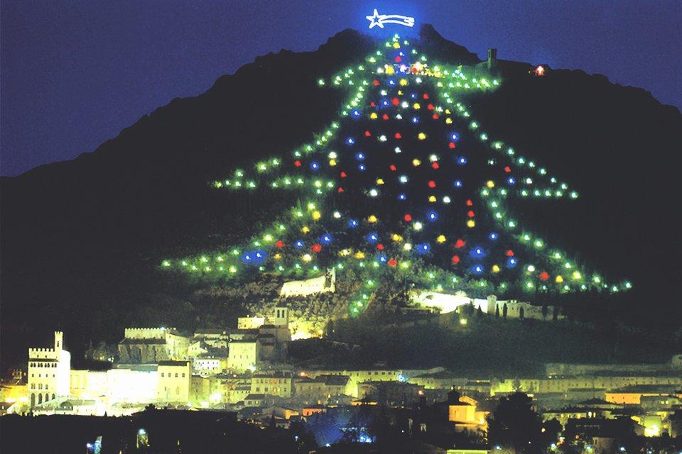 Kerst in Gubbio, Italië