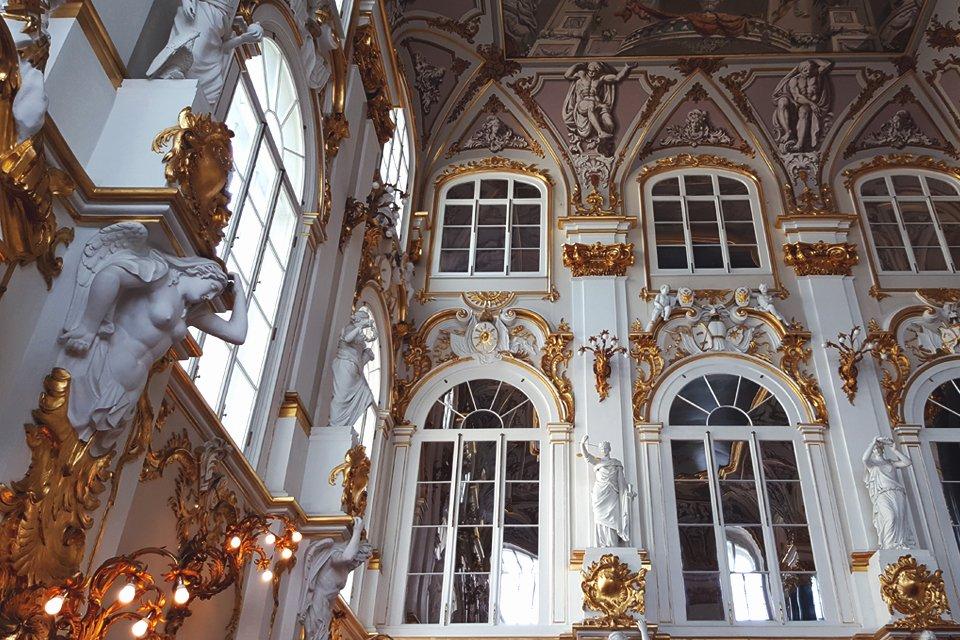Interieur van de Hermitage in St.Petersburg, Rusland