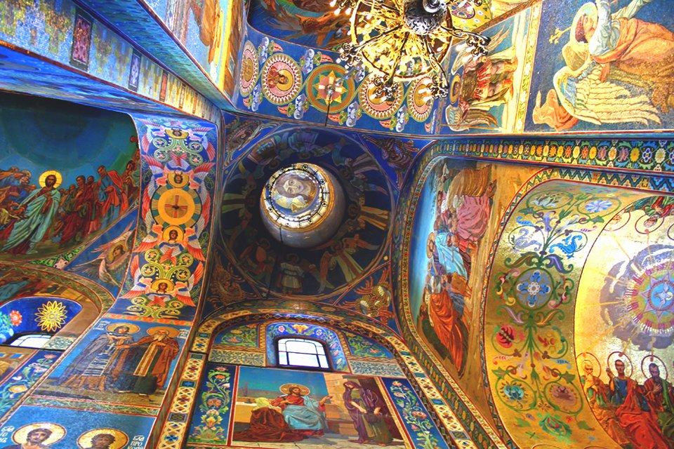 Verlosserskerk in St.Petersburg, Rusland