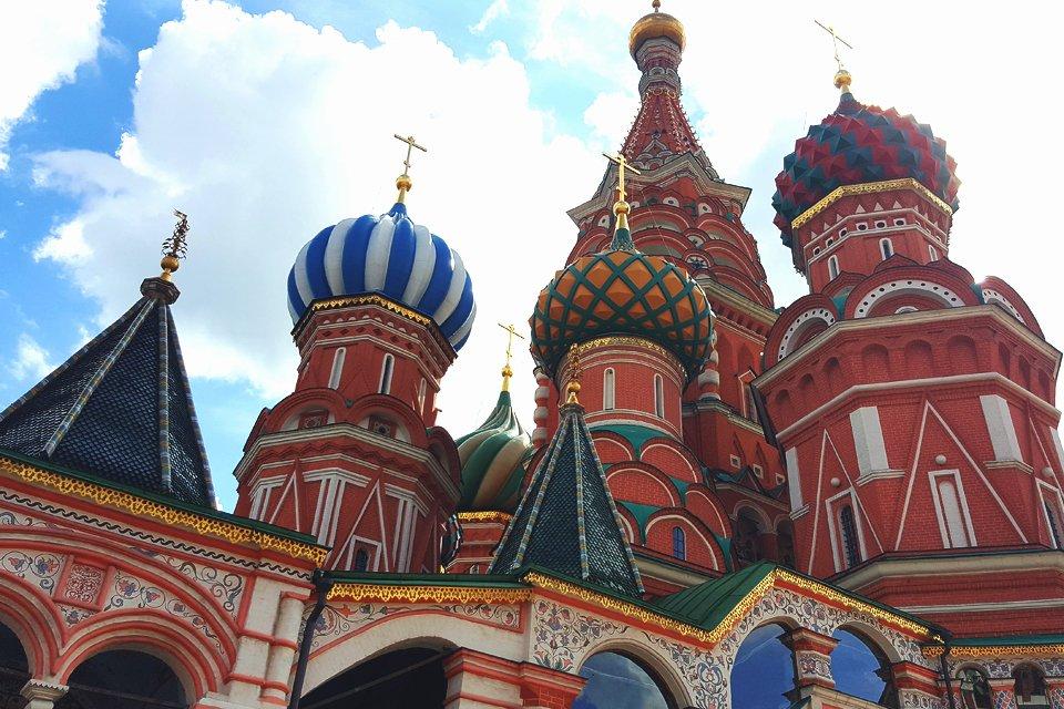 Wasliuskathedraal in Moskou, Rusland