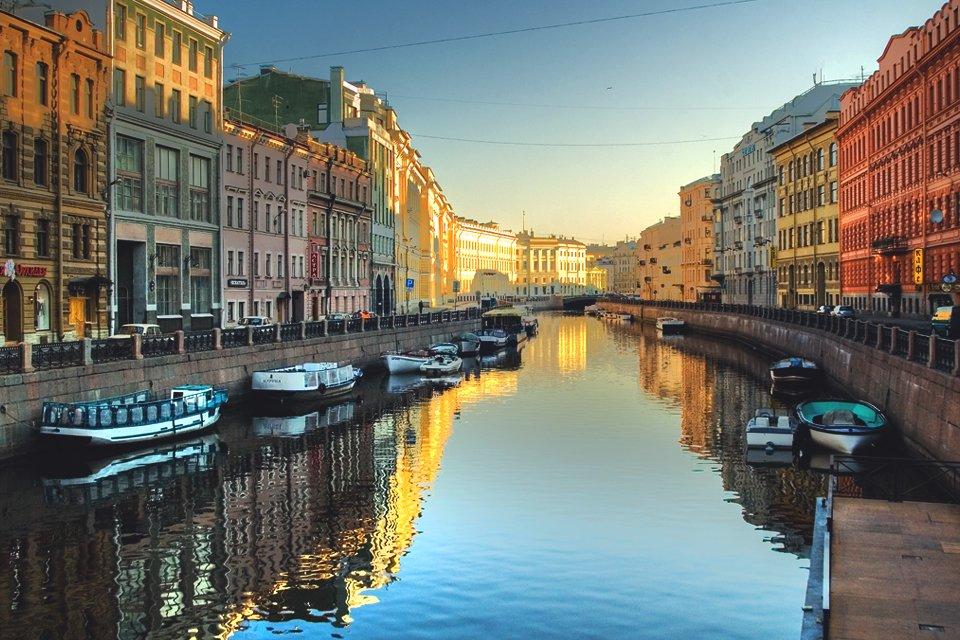 De grachten van St.Petersburg, Rusland