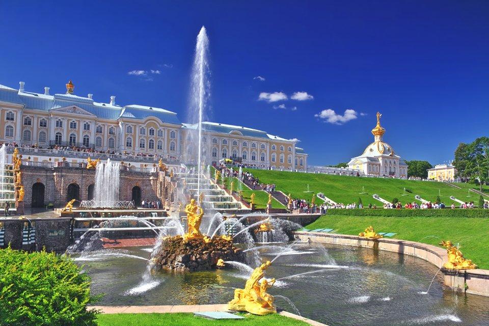 Peterhof bij Sint Petersburg, Rusland