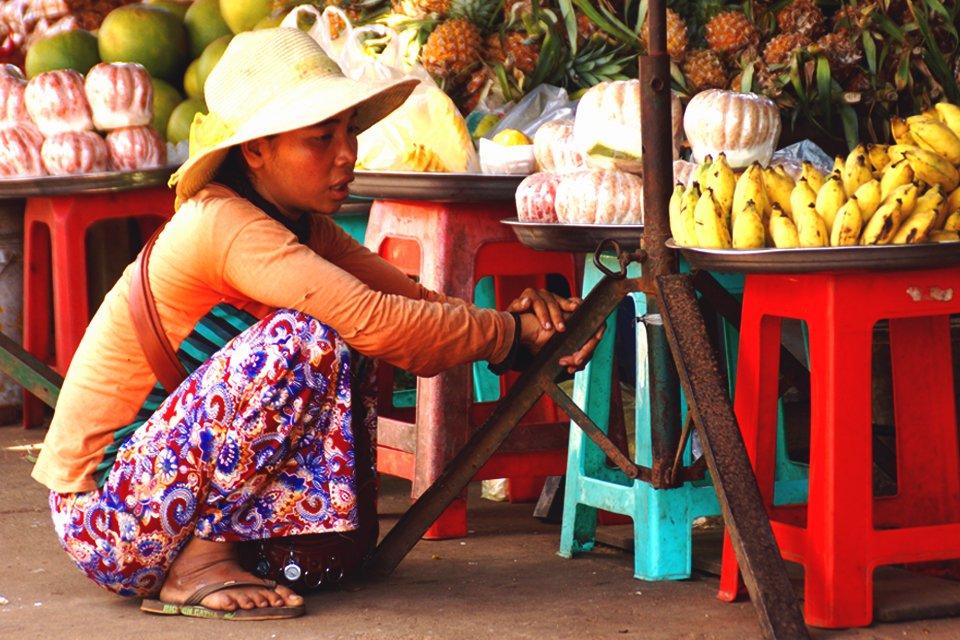 Straatbeeld in Cambodja