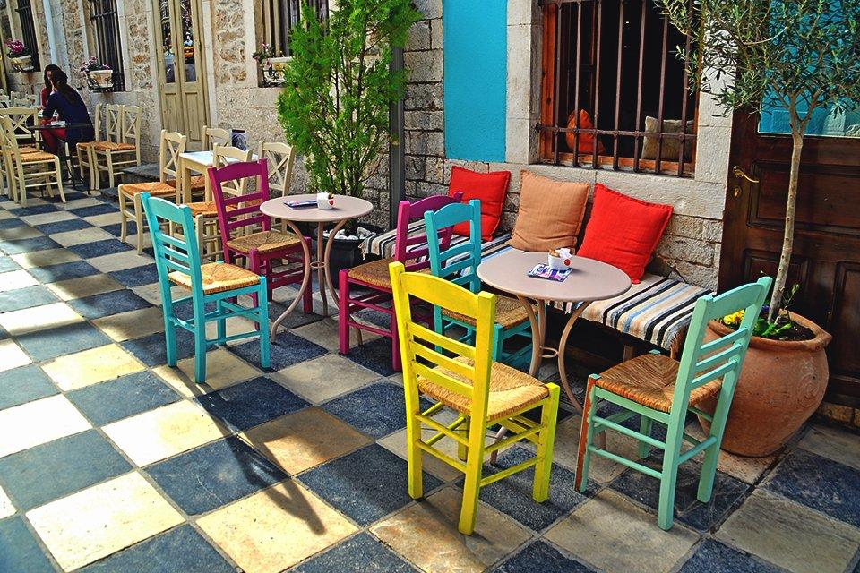 Gezellig terrasje, Griekenland