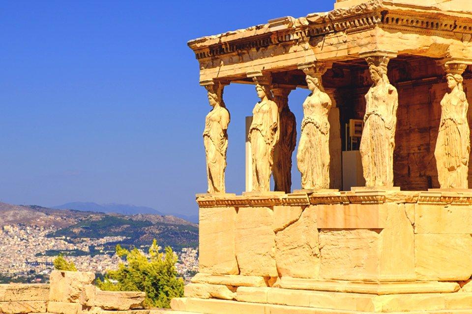 Akropolis in Athene, Griekenland
