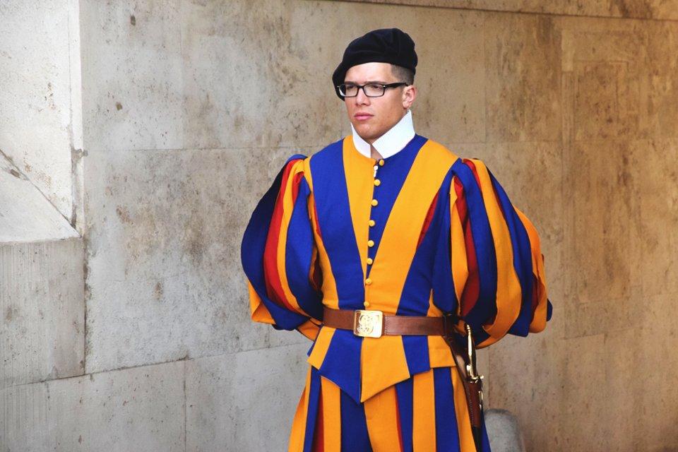 Zwisterse garde in Vaticaanstad in Rome, Italië
