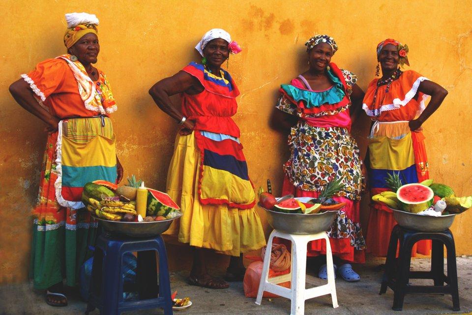 Markt in Silvia, Colombia