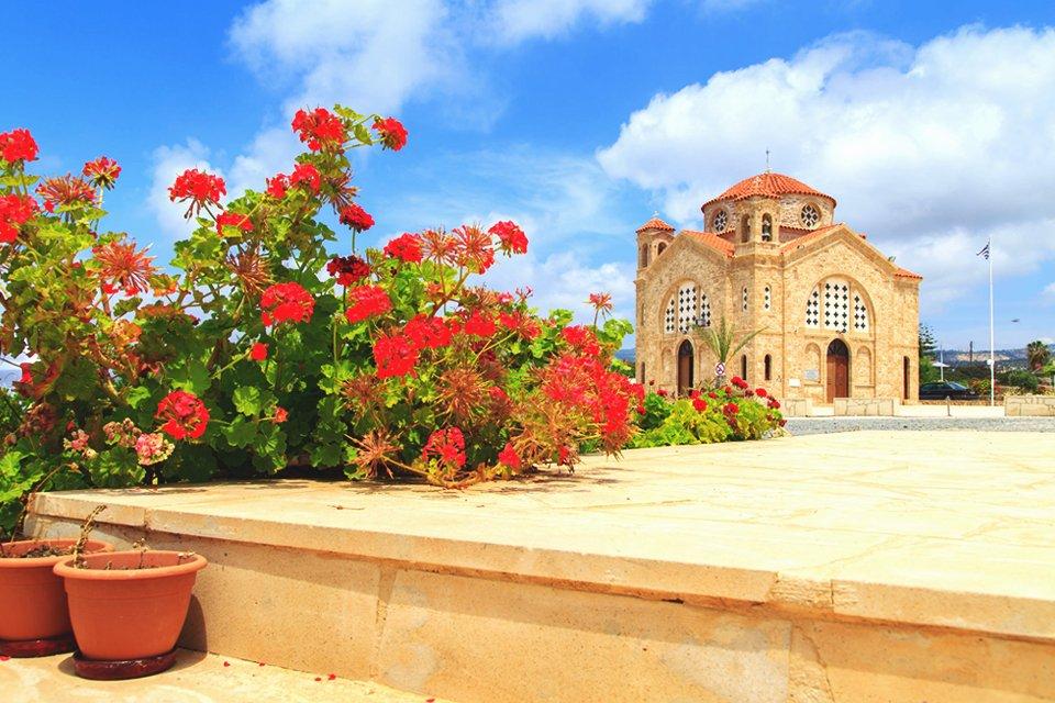 Byzantijns kerkje op Cyprus