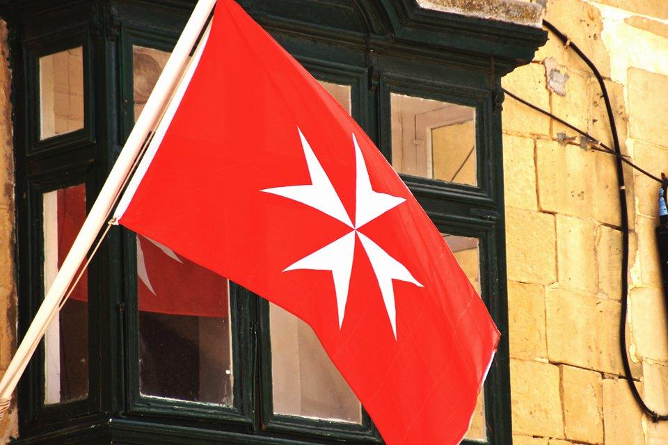 Vlag van Malta in Valletta
