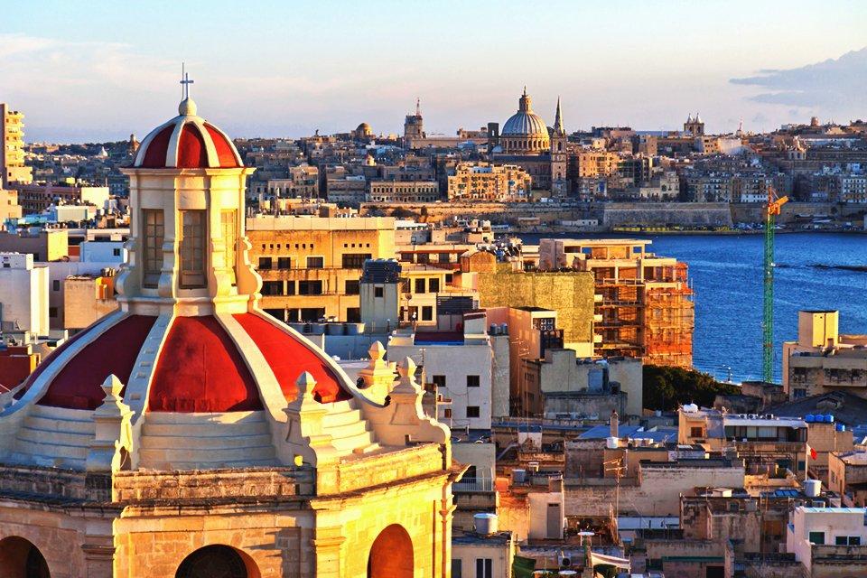Zicht op Valletta, Malta