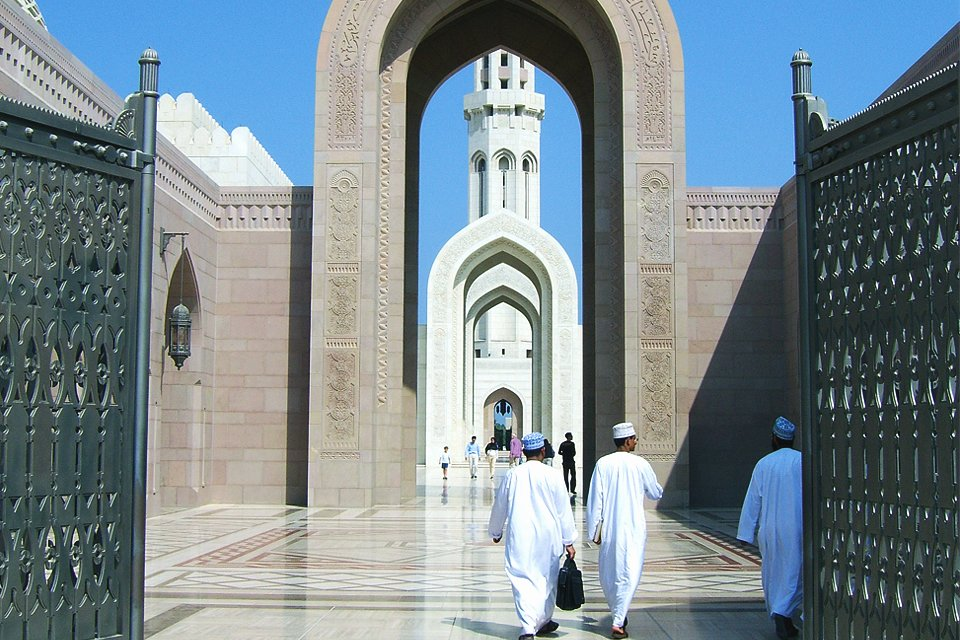 Grote Moskee in Muscat, Oman
