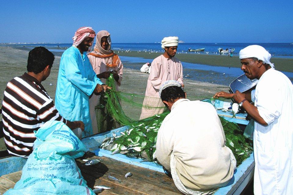 Vissers in Sur, Oman