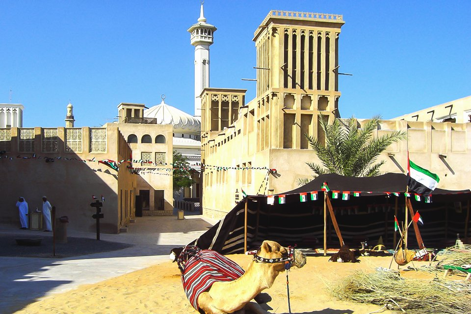 Al Bastakiya in Dubai, Verenigde Arabische Emiraten
