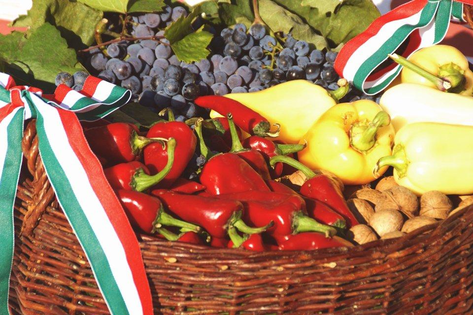Paprika's in Hongarije