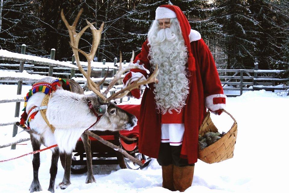 Kerstman in Rovaniemi, Finland