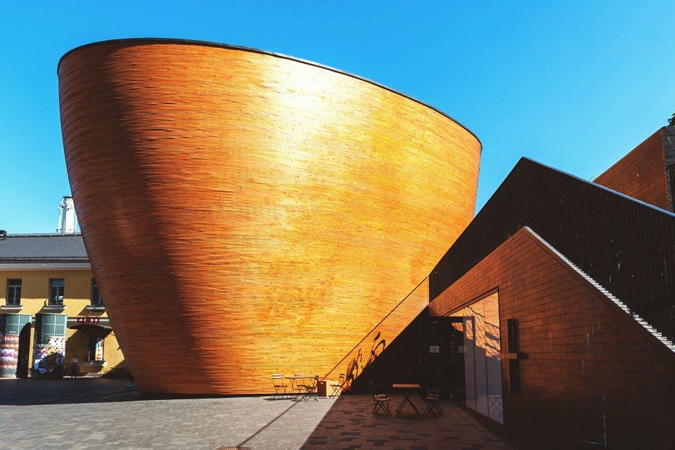 Kapel van de Stilte in Helsinki, Finland