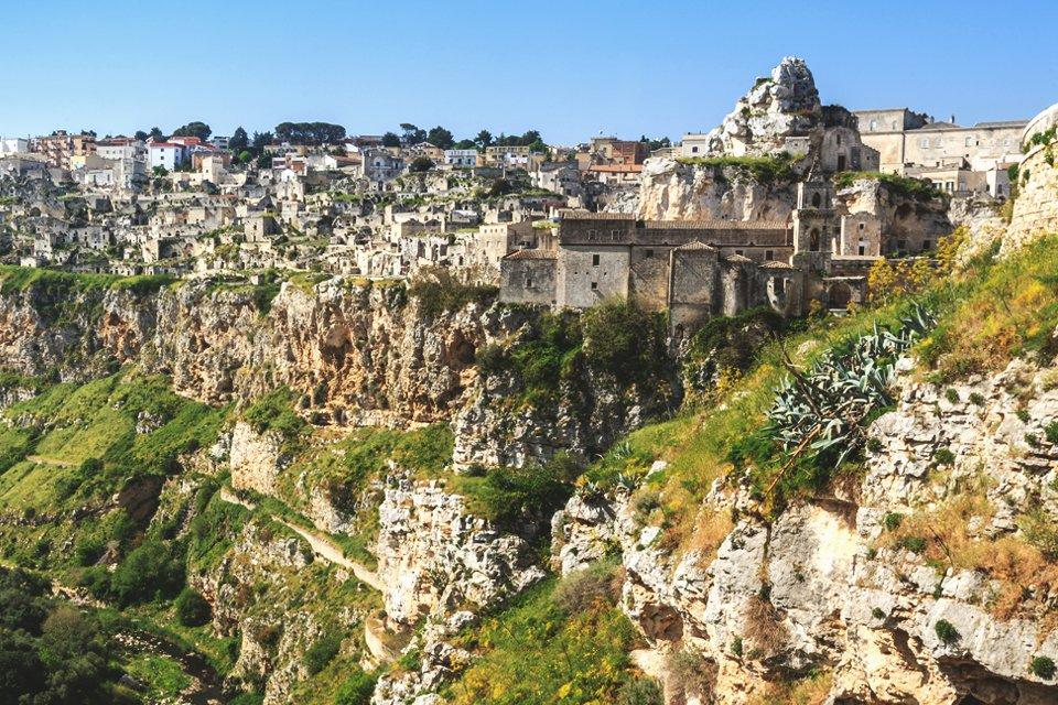 Grotwoningen Matera in Puglia, Italië