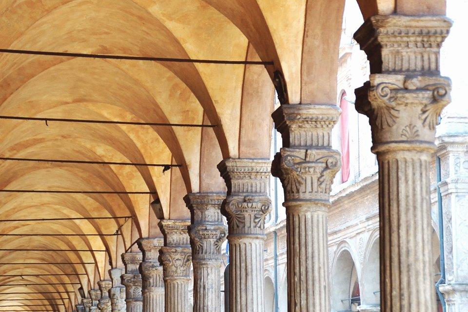Gallerij in Bologna, Italië
