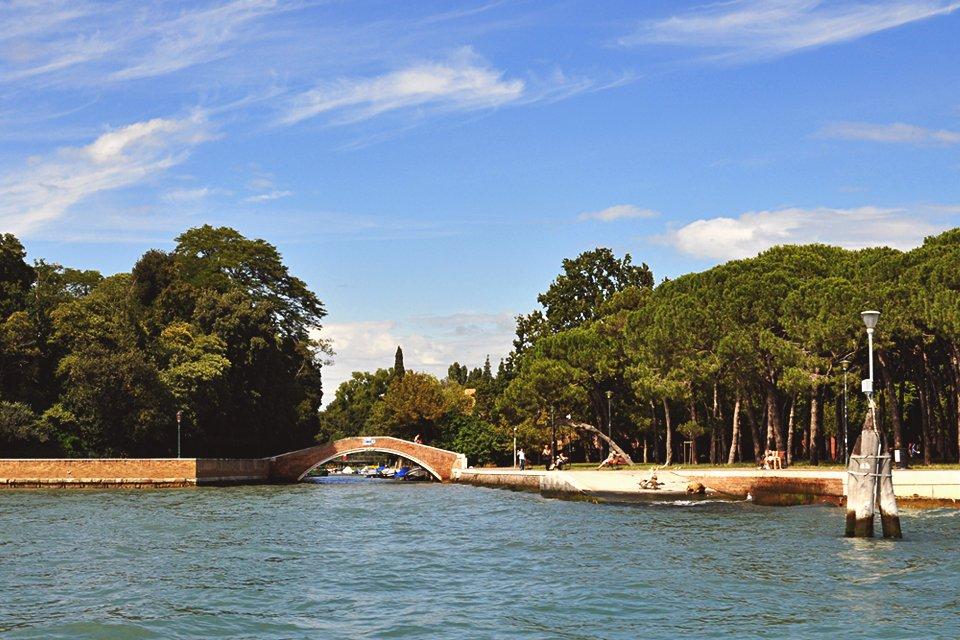 Giardini di Castello in Venetië, Italië