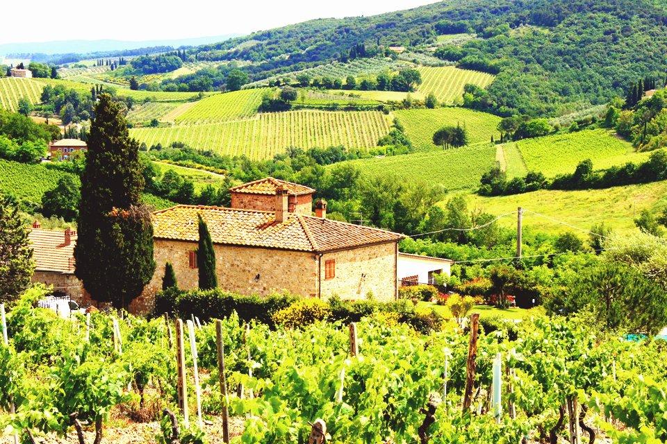 Landschap van Toscane, Italië