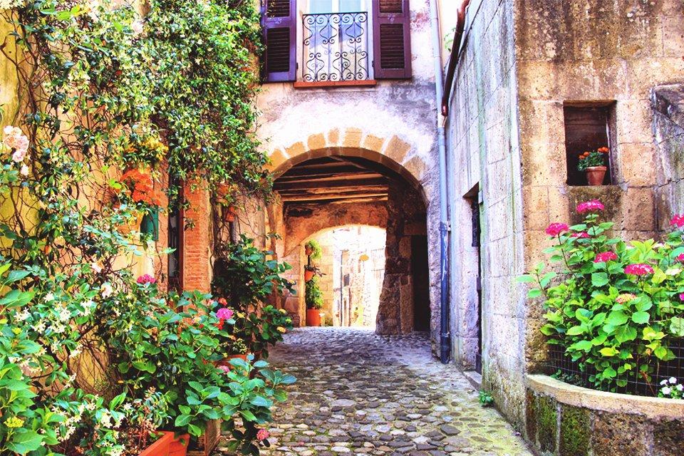 Stadje in Toscane, Italië