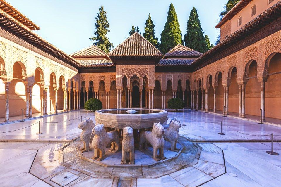 Het Alhambra in Granda, Andalusië, Spanje