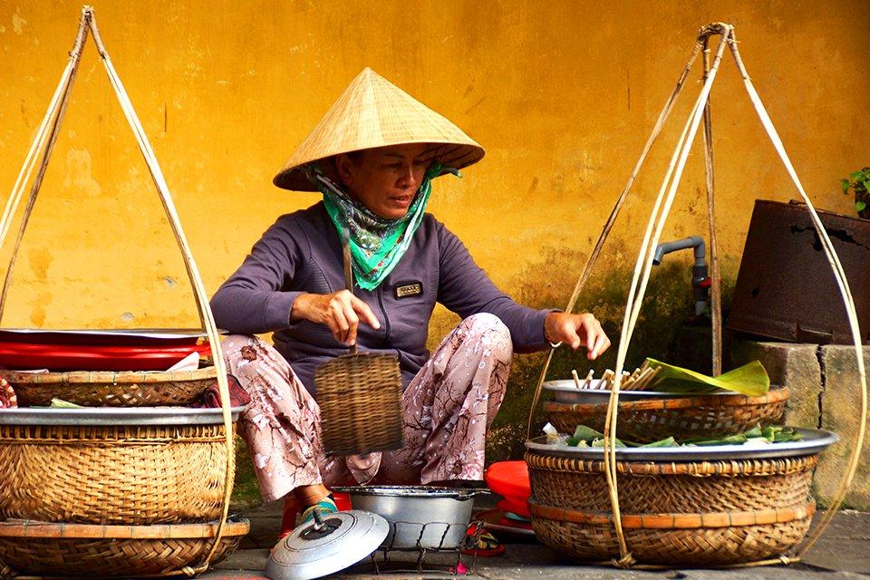 Vrouw op de markt, Vietnam