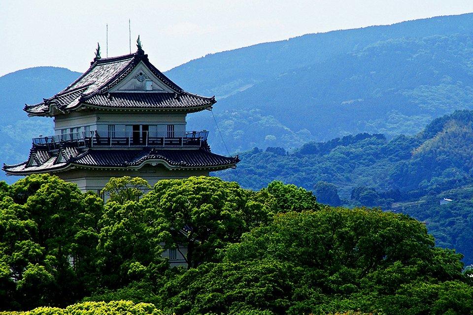 Witter Reigerkasteel in Himeji, Japan